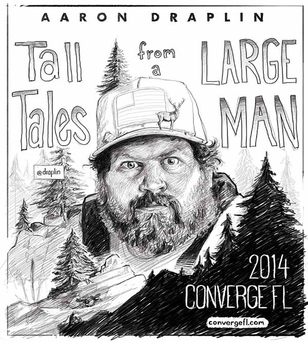 Aaron Draplin poster sketch