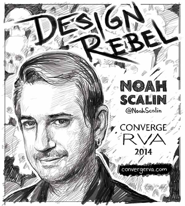 Noah Scalin poster sketch