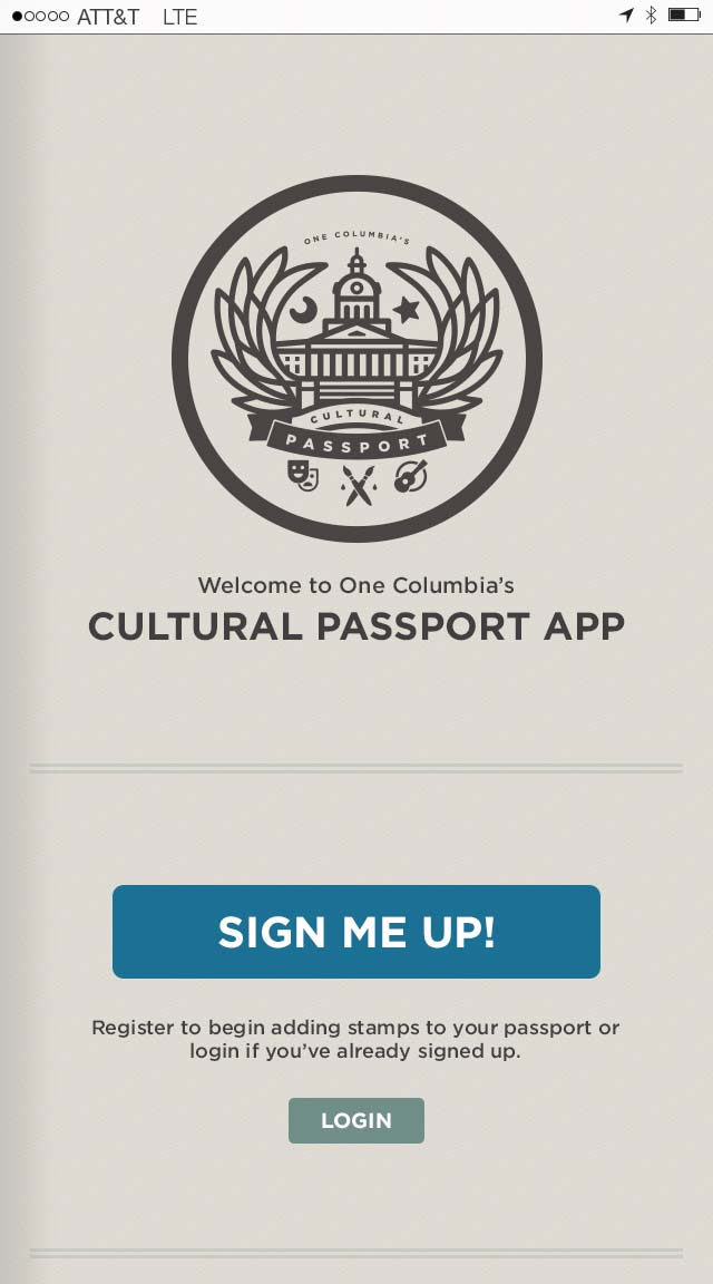 One Columbia Cultural Passport iPhone App